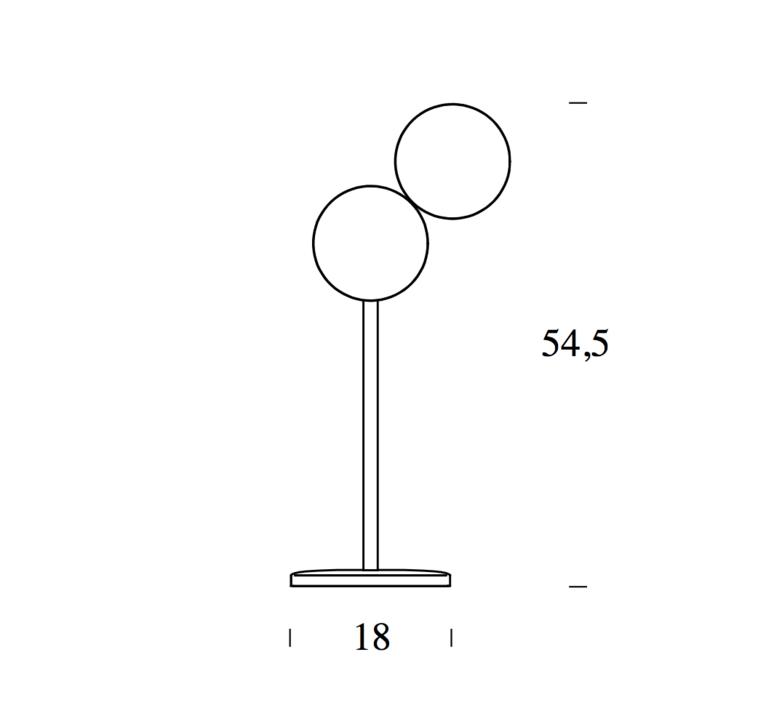 Optunia claesson koivisto rune lampe a poser table lamp  fontanaarte 4396oc   design signed 39327 product