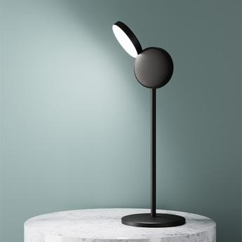 Lampe a poser optunia marron sombre led l18cm h58 5cm fontana arte normal