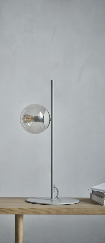 Lampe a poser orb gris l58 5cm h26cm bolia normal