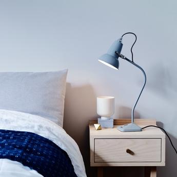 Lampe a poser original 1227 mini gris clair h52cm anglepoise normal