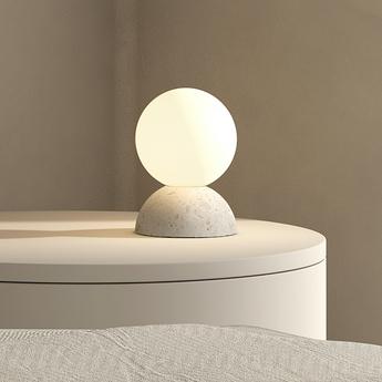 Lampe a poser origo blanc l10cm h14 5cm david pompa normal