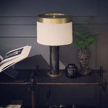 Lampe a poser orsola marbre noir laiton led 2700k 1410lm o32cm h55cm tato italia normal