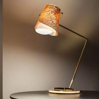 Lampe a poser overlay rollerball cuivre led l43cm h52cm slamp normal