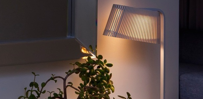 Lampe a poser owalo 7020 blanc lamine led o7cm h50cm light point normal