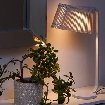 Lampe a poser owalo 7020 blanc lamine led o7cm h50cm light point normal