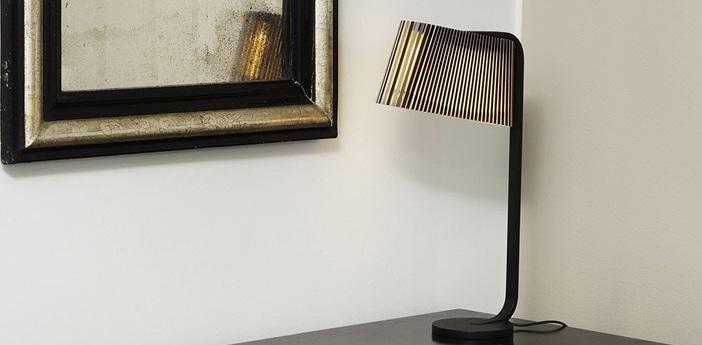 Lampe a poser owalo 7020 noir lamine led o7cm h50cm light point normal