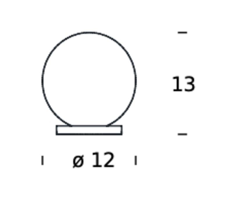 Pallina gio ponti lampe a poser table lamp  fontanaarte f443000150 ne laiton  design signed nedgis 79057 product