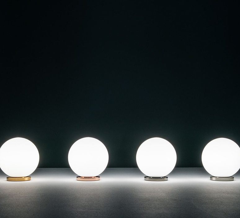 Pallina gio ponti lampe a poser table lamp  fontanaarte f443000150 ne laiton  design signed nedgis 79059 product