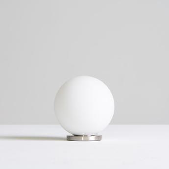 Lampe a poser pallina nickel o12cm h13cm fontana arte normal