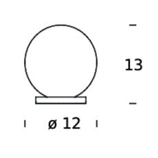 Pallina gio ponti lampe a poser table lamp  fontanaarte f443000150 ne noir  design signed nedgis 79056 thumb