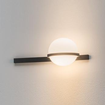 Lampe a poser palma 3700 graphite 0led 2700k 685lm l55cm h22cm vibia normal