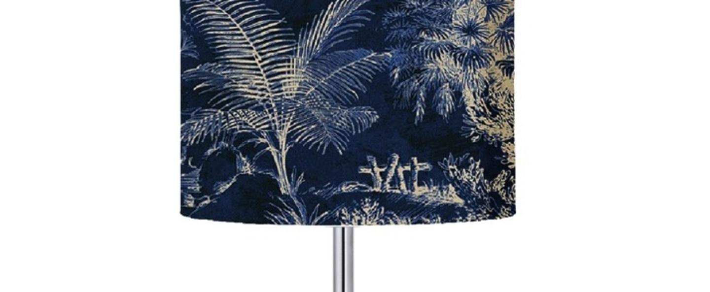 Lampe a poser palms indigo o17 5cm h49cm ebb flow normal