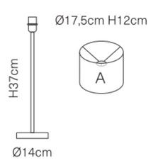 Palms susanne nielsen lampe a poser table lamp  ebb flow ba101206 sh101109t a  design signed nedgis 114233 thumb