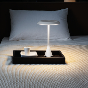 Lampe a poser panama mini batterie 7h blanc led o20cm h30cm nemo lighting normal