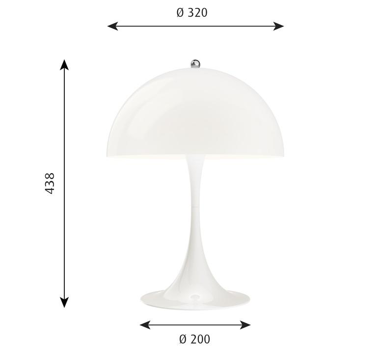 Panthella 320 verner panton lampe a poser table lamp  louis poulsen 5744167136  design signed nedgis 106277 product
