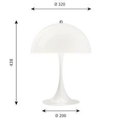 Panthella 320 verner panton lampe a poser table lamp  louis poulsen 5744167136  design signed nedgis 106277 thumb