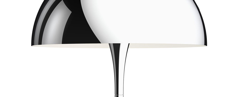 Lampe a poser panthella 320 chrome o32cm h43 8cm louis poulsen normal