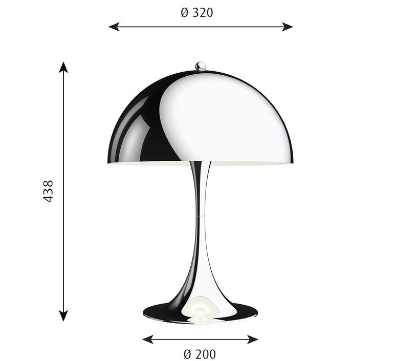 Panthella 320 verner panton lampe a poser table lamp  louis poulsen 5744167152  design signed nedgis 106282 product