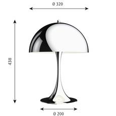 Panthella 320 verner panton lampe a poser table lamp  louis poulsen 5744167152  design signed nedgis 106282 thumb