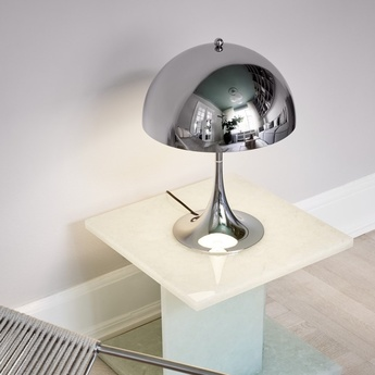 Lampe a poser panthella 320 chrome o32cm h43 8cm louis poulsen normal