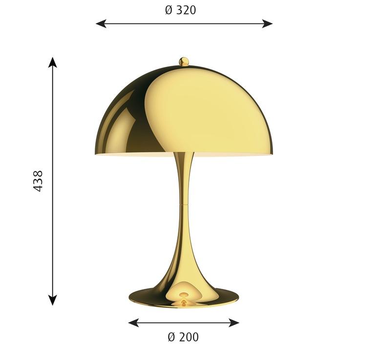 Panthella 320 verner panton lampe a poser table lamp  louis poulsen 5744167178  design signed nedgis 106289 product