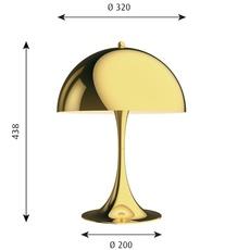 Panthella 320 verner panton lampe a poser table lamp  louis poulsen 5744167178  design signed nedgis 106289 thumb