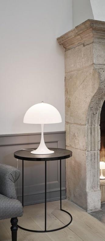 Lampe a poser panthella blanc o40cm h58cm louis poulsen normal