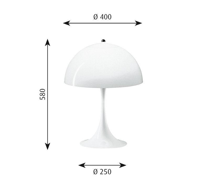 Panthella verner panton lampe a poser table lamp  louis poulsen 5744163415  design signed 48986 product