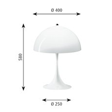 Panthella verner panton lampe a poser table lamp  louis poulsen 5744163415  design signed 48986 thumb