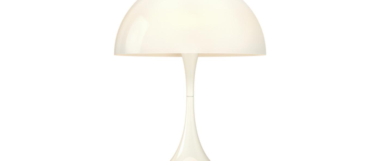 Lampe a poser panthella mini blanc led o25cm h33 5cm louis poulsen normal