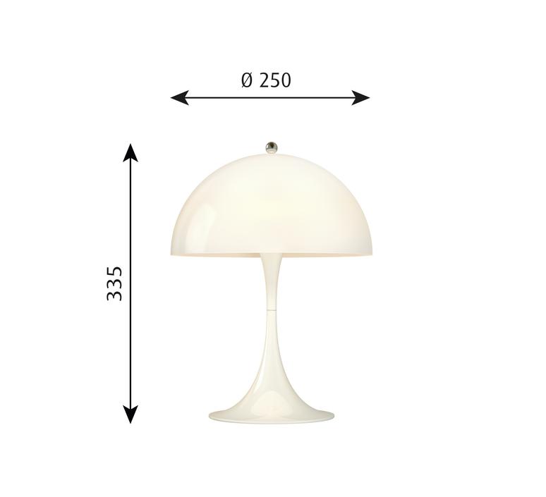 Panthella mini verner panton lampe a poser table lamp  louis poulsen 5744165235  design signed 48968 product