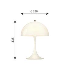Panthella mini verner panton lampe a poser table lamp  louis poulsen 5744165235  design signed 48968 thumb