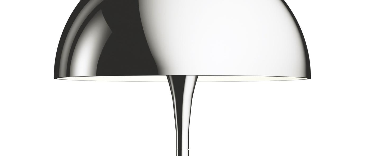 Lampe a poser panthella mini chrome led 2700k 428lm o25cm h33 5cm louis poulsen normal