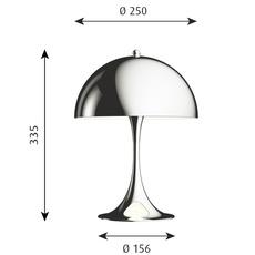 Panthella mini verner panton lampe a poser table lamp  louis poulsen 5744162555  design signed nedgis 106402 thumb