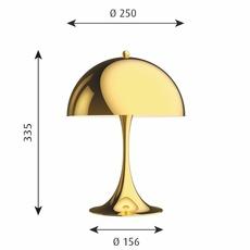 Panthella mini verner panton lampe a poser table lamp  louis poulsen 5744167110  design signed nedgis 106301 thumb