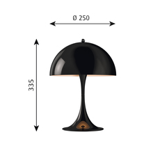 Panthella mini verner panton lampe a poser table lamp  louis poulsen 5744165222  design signed 48973 thumb