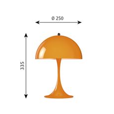Panthella mini verner panton lampe a poser table lamp  louis poulsen 5744165264  design signed 48977 thumb