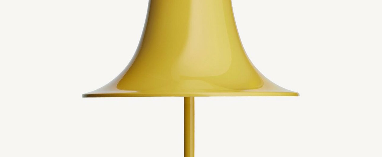 Lampe a poser pantop 23 jaune o23cm h38cm verpan normal