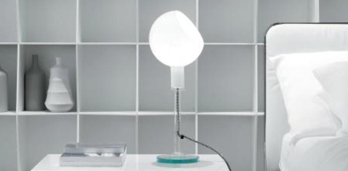 Lampe a poser parola blanc h53cm fontana arte normal