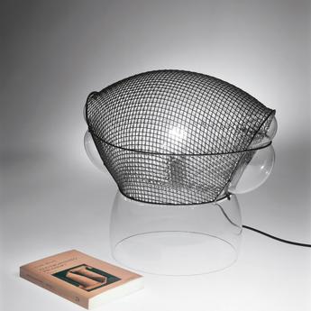 Lampe a poser patroclo gris o65cm h60cm artemide normal