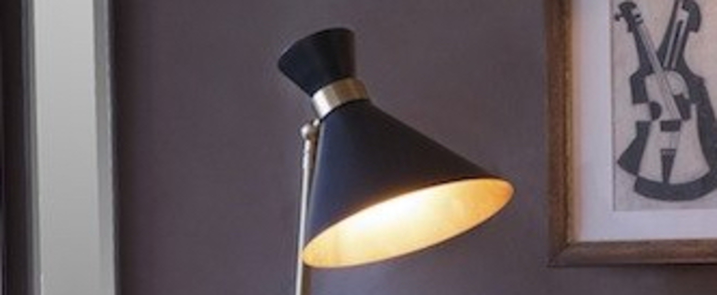 Lampe a poser peggy blanc l32cm h66cm gong normal