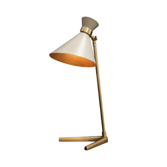 Lampe a poser peggy gris l32cm h66cm gong normal
