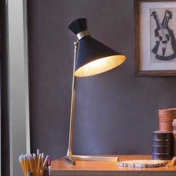 Lampe a poser peggy noir l32cm h66cm gong normal
