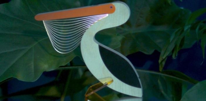 Lampe a poser pelican blanc o19cm h17cm studio cheha normal