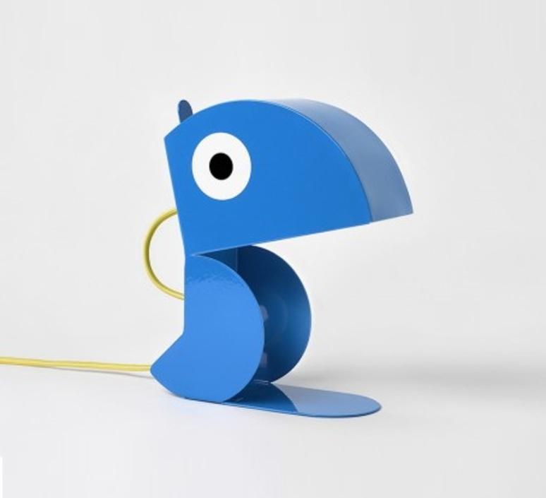Perroquet bleu carmin design studio lampe a poser table lamp  bleu carmin design lmp animo 006  design signed nedgis 77291 product