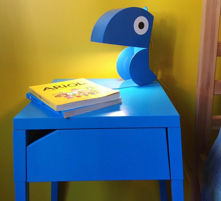 Perroquet bleu carmin design studio lampe a poser table lamp  bleu carmin design lmp animo 006  design signed nedgis 77292 product