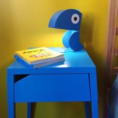 Perroquet bleu carmin design studio lampe a poser table lamp  bleu carmin design lmp animo 006  design signed nedgis 77292 thumb