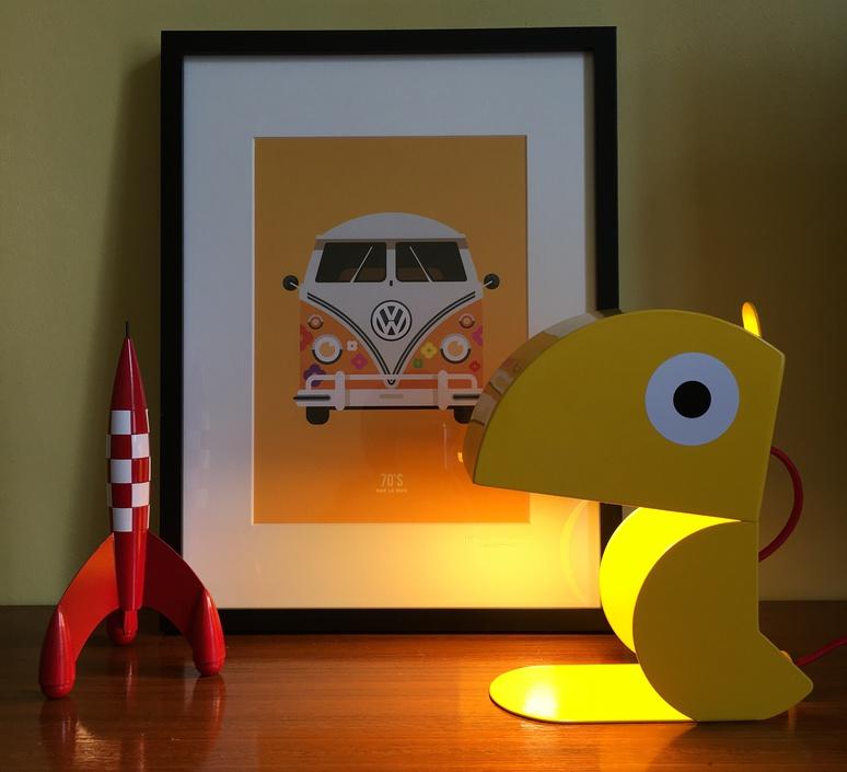 Perroquet bleu carmin design studio lampe a poser table lamp  bleu carmin design lmp animo 009  design signed nedgis 77305 product
