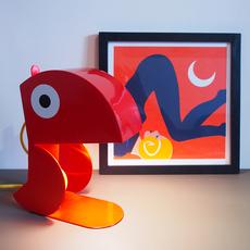 Perroquet bleu carmin design studio lampe a poser table lamp  bleu carmin design lmp animo 008  design signed nedgis 77302 thumb