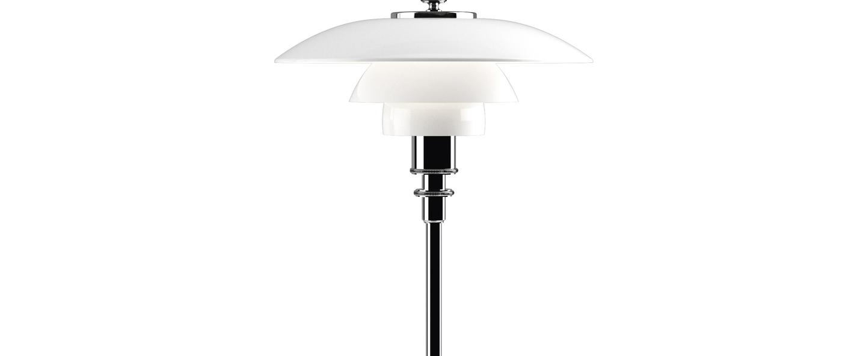 Lampe a poser ph 2 1 lampe de table blanc chrome led o20cm h35 5cm louis poulsen normal
